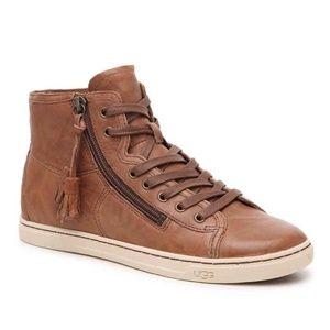 UGG Leather Blaney High-Top Tassel Sneaker Size 10